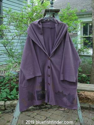 Vintage Blue Fish Clothing 1994 Carriage Coat Leaves Plum Wine OSFA- Bluefishfinder.com