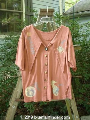 Vintage Blue Fish Clothing 1994 Compass Top Sea Horse Terra Size 1- Bluefishfinder.com