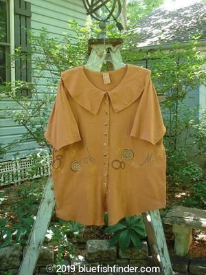 Vintage Blue Fish Clothing 1994 Cross Collar Top Soup Ochre Size 2- Bluefishfinder.com