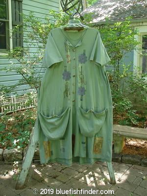 Vintage Blue Fish Clothing 1994 Penny Dress High Back Chair Seaweed Size 2- Bluefishfinder.com