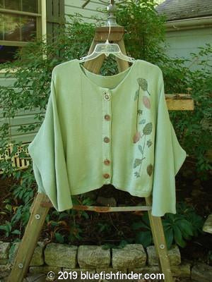 Vintage Blue Fish Clothing 1994 Panel Cardigan Leaf and Bud Kelp OSFA- Bluefishfinder.com