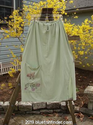 Vintage Blue Fish Clothing 1994 Pocket Skirt Butterfly Garden Celery Size 2- Bluefishfinder.com