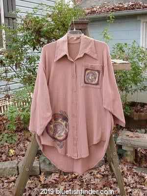 Vintage Blue Fish Clothing 1994 Workshirt Cliff Roses OSFA- Bluefishfinder.com