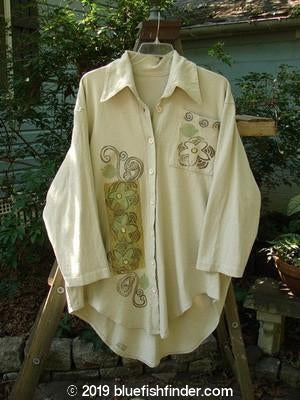 Vintage Blue Fish Clothing 1994 Workshirt Vertical Florals Mist OSFA- Bluefishfinder.com