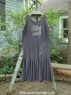 Vintage Blue Fish Clothing 1995 Day Dream Dress Crazy Kitty Madder Lake Size 1- Bluefishfinder.com