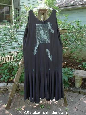 Vintage Blue Fish Clothing 1995 Day Dream Dress Tilting Tower Shadow Size 2- Bluefishfinder.com