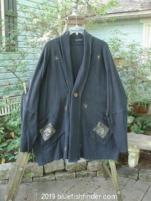 Vintage Blue Fish Clothing 1995 Deco Jacket Conversation Black Velvet OSFA- Bluefishfinder.com