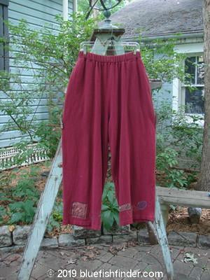 Vintage Blue Fish Clothing 1995 Fitzgerald Pant Abstract Hollyberry Size 2- Bluefishfinder.com