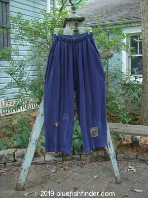 Vintage Blue Fish Clothing 1995 Fitzgerald Pant Tower Royal Orchid Size 2- Bluefishfinder.com