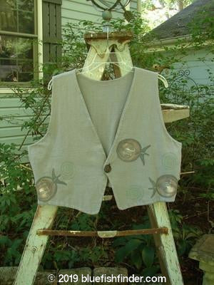 Vintage Blue Fish Clothing 1995 Jazz Vest Rolling Silvermoon Size 2- Bluefishfinder.com