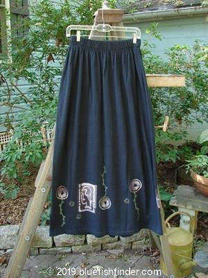 Vintage Blue Fish Clothing 1995 Kick Pleat Skirt Wonder Black Size 2- Bluefishfinder.com