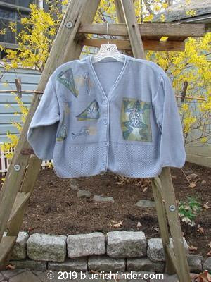 Vintage Blue Fish Clothing 1995 KIDS Playhouse Cardigan Sweater Froggies Air Size 3- Bluefishfinder.com
