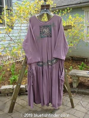 Vintage Blue Fish Clothing 1995 Labyrinth Dress Sun Leaf Heliotrope Size 2- Bluefishfinder.com