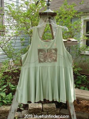 Vintage Blue Fish Clothing 1995 Patio Rose Dress Reverse Leaf Dinette Green OSFA- Bluefishfinder.com