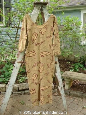 Vintage Blue Fish Clothing 1995 Roller Printed Long Sleeved Dress Sand Size 1- Bluefishfinder.com