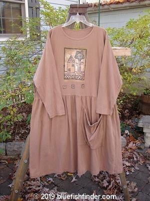 Vintage Blue Fish Clothing 1995 Bric Brac Dress Tunic Little House Cottage Brown Size 2- Bluefishfinder.com