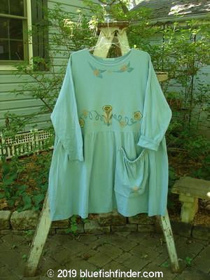 Vintage Blue Fish Clothing 1995 Bric Brac Dress Tunic Music Instrument Watercolor Size 2- Bluefishfinder.com