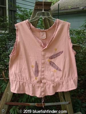 Vintage Blue Fish Clothing 1995 Wish Vest Feather Shell Heart Size 1- Bluefishfinder.com