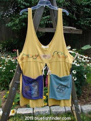 Vintage Blue Fish Clothing 1996 4 Corner Pocket Apron Vest Key Lemon OSFA- Bluefishfinder.com