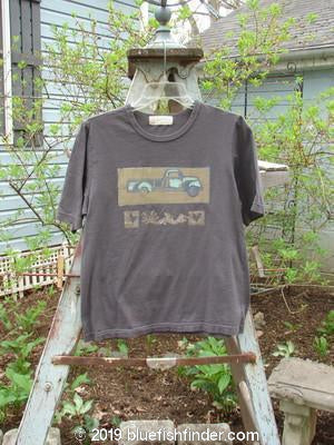 Vintage Blue Fish Clothing 1996 KIDS Basic Short Sleeved Tee Truck Stormy Grey Size M- Bluefishfinder.com