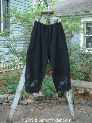 Vintage Blue Fish Clothing 1996 Drawcord Pant Teacups Black Size 2- Bluefishfinder.com