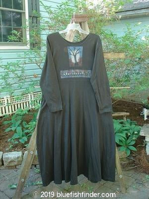 Vintage Blue Fish Clothing 1996 Elements Long Sleeved Simple Dress Tree Storm Size 0- Bluefishfinder.com