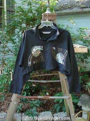 Vintage Blue Fish Clothing 1996 Crop Tale Shirt Full Moon Storm Size 1- Bluefishfinder.com