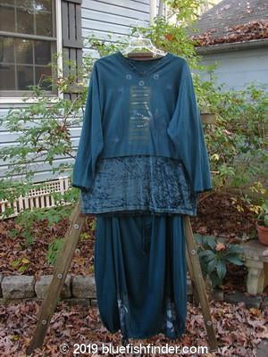 Vintage Blue Fish Clothing 1996 Velvet Arrowhead Pullover Metaphor Skirt Duo Viridian Size 2- Bluefishfinder.com