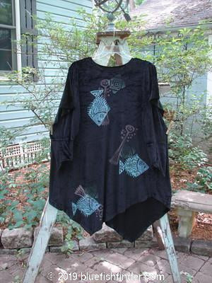 Vintage Blue Fish Clothing 1996 Velvet Nerthus Dress Fish Ebony Size 2- Bluefishfinder.com