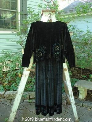 Vintage Blue Fish Clothing 1996 Velvet Vented Crop Top Cosmos Pant Duo Ebony Size 1- Bluefishfinder.com