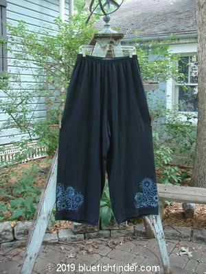 Vintage Blue Fish Clothing 1997 Artisan Pant Flower Power Black Size 2- Bluefishfinder.com