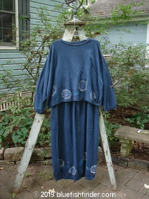 Vintage Blue Fish Clothing 1997 Cashmere Long Sleeved Crop Pullover Skirt Duo Marled Blueprint OSFA- Bluefishfinder.com
