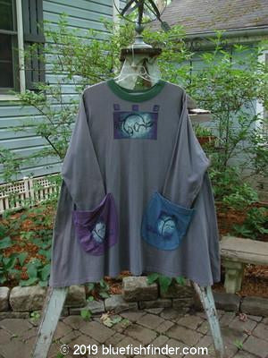 Vintage Blue Fish Clothing 1997 Mosaic Top Wave Granite Size 2- Bluefishfinder.com