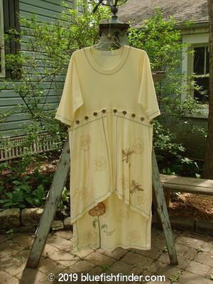 Vintage Blue Fish Clothing 1998 Botanicals Spindle Tree Dress Queen Anne's Lace Size 1- Bluefishfinder.com