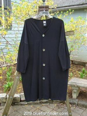 Vintage Blue Fish Clothing 1998 Rayon Lycra Square Cardigan Black OSFA- Bluefishfinder.com