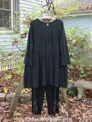 Vintage Blue Fish Clothing 1999 Acetate Stargazer Top Wide Leg Pant Duo Black Size 2- Bluefishfinder.com