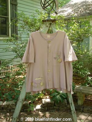 Vintage Blue Fish Clothing 1999 Camp Shirt Garden Critter Lilac Size 2- Bluefishfinder.com