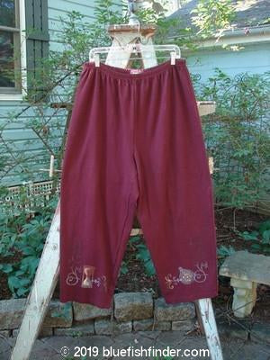 Vintage Blue Fish Clothing 1999 Interlock Easy Pant Hour Glass Red Wine Size 2- Bluefishfinder.com