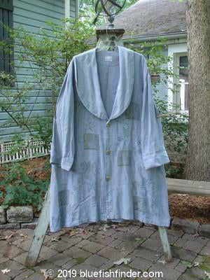 Vintage Blue Fish Clothing 1999 Hemp Shawl Collar Coat Culture Bluestone Size 2- Bluefishfinder.com