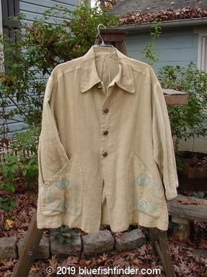 Vintage Blue Fish Clothing 1999 Hemp Yard Coat Cement Size 1- Bluefishfinder.com