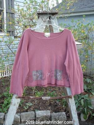 Vintage Blue Fish Clothing 1999 Roundneck Rib Top Daisy Worn Dark Mauve Size 2- Bluefishfinder.com
