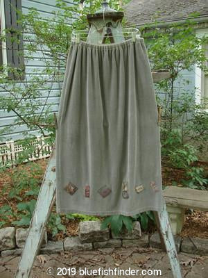 Vintage Blue Fish Clothing 1999 Stretch Cord Skirt Olive Grey Size 2- Bluefishfinder.com