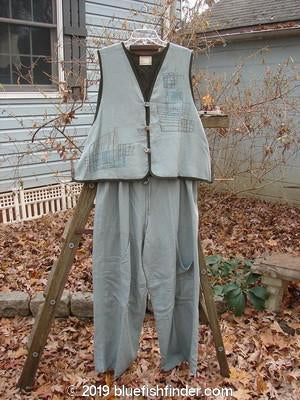 Vintage Blue Fish Clothing 2000 Edge Of The World Vest Map Pocket Pant Directional Duo Surf Size 1- Bluefishfinder.com