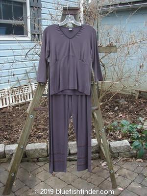 Vintage Blue Fish Clothing 2000 Evia Top Slim Pant Duo Celtic Aubergine Size 0- Bluefishfinder.com