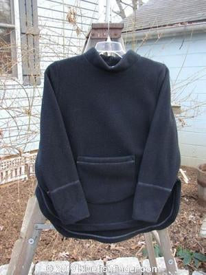 Vintage Blue Fish Clothing 2000 Fleece Pullover Black Size 1- Bluefishfinder.com