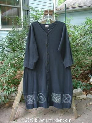 Vintage Blue Fish Clothing 2000 Interlock Glassgow Coat Dress Celtic Black Size 1- Bluefishfinder.com