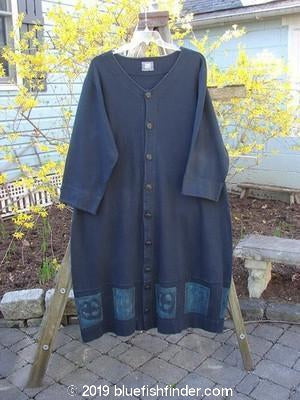 Vintage Blue Fish Clothing 2000 Interlock Glassgow Coat Dress Celtic Knot Black Size 1- Bluefishfinder.com
