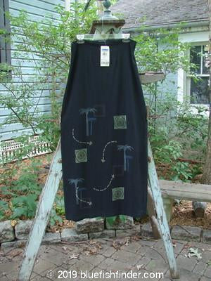 Vintage Blue Fish Clothing 2000 NWT Tube Skirt Palm Trees Black Size 2- Bluefishfinder.com
