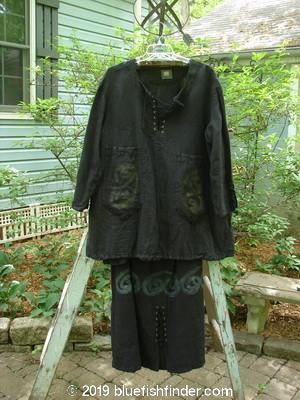 Vintage Blue Fish Clothing 2000 Pages Pullover Market Skirt Duo Celtic Black Size 2- Bluefishfinder.com