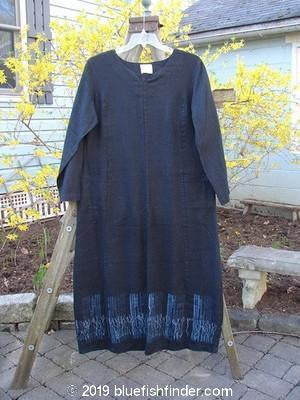 Vintage Blue Fish Clothing 2000 Ringlet Dress Grass Fence Black Size 0- Bluefishfinder.com